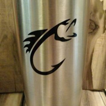 Yeti Decal, Yeti Rambler Decal, Yeti Tumbler Decal, Ozark Tumbler Decal, Fish hook Decal, Wall Vinyl Decal, Ozark Trail Decal, RTIC