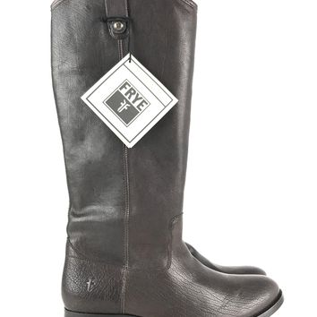 FRYE Melissa Button Dark Brown Riding Boot