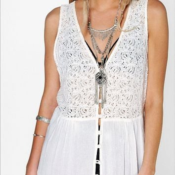 Boho Lace Loose Maxi Dress
