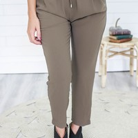 Impress The Best Pants - Olive