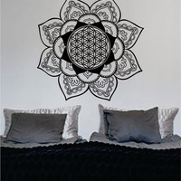 Mandala Flower of Life Version 3 Sacred Geometry Decal Sticker Wall Vinyl Art Design