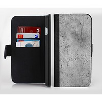 The Concrete Grunge Texture Ink-Fuzed Leather Folding Wallet Credit-Card Case for the Apple iPhone 6/6s, 6/6s Plus, 5/5s and 5c
