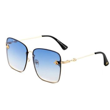 Gucci Popular Women Men Cute Bee Summer Sun Shades Eyeglasses Glasses Sunglasses Blue I-ANMYJ-BCYJ
