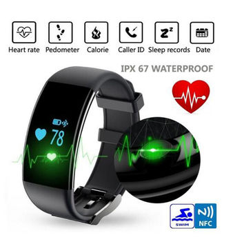 Bluetooth Smartwatch Smart Watch Wristband Bracelet With Heart Rate, Smartband Activity Fitness Tracker for IOS and Android