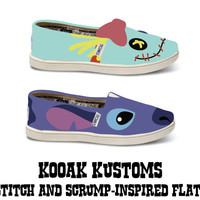KOOAK Kustoms Disney Stitch and Scrump-Inspired Toms Flats