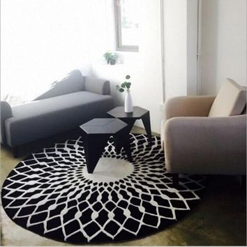Autumn Fall welcome door mat doormat Creative Polyester Yoga Mats Flannel Round Carpet For Living Room Computer Chair Rugs Kids Play Tent Floor Mat Non-slip  AT_76_7