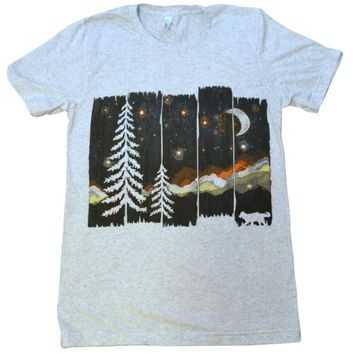 Starry Mountain Night Shirt