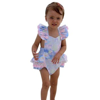 Baby girls romper baby rompers Floral Newborn Infant Baby Girl Bow Romper Jumpsuit Outfits baby Clothes Drop ship