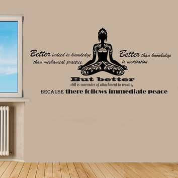 Wall Decal Vinyl Sticker Decals Art Home Decor Design Murals Yuoga Decals Buddha Quotes Decal Yoga Studio Wall Decals Bedroom Decals OP21