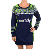 Seattle Seahawks Official NFL Sweater Dress by Klew