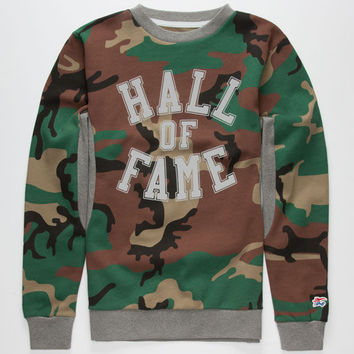 Hall Of Fame Harlem Core Mens Sweatshirt Camo  In Sizes