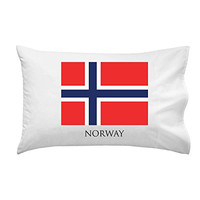 Norway - World Country National Flags - Pillow Case Single Pillowcase