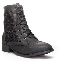 Top Moda LA-26 Women's Lace Up Military Combat Boots