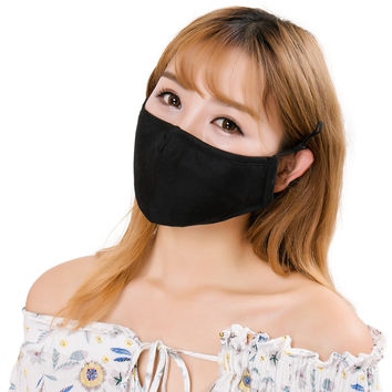 Cotton PM25 Anti Haze Dust Mask Anti-dust Storm Respirator Replaceable Filter Mask Thick Windproof Mouth Mask Flu Face Masks SM6