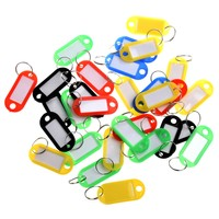 30 X Coloured Plastic Key Fobs Luggage ID Tags Labels Key rings with Name Cards For Many Uses
