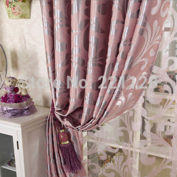 Customized quality jacquard thickening shade cloth curtain for living room window tulle blind