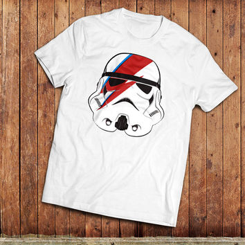 Stormtrooper Bowie T-Shirt, Star wars Tee Shirt. Star wars Bowie mash-up