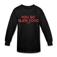 Spreadshirt, You Go Glen Coco +4 Candy Canes, Kid's Long Sleeve T-Shirt, black, S_6-8_J