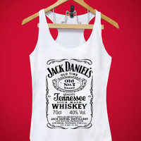 Brand New Item Jack Daniels Tank Women and Men, Red, White, Black, Gray, Blue, Pink