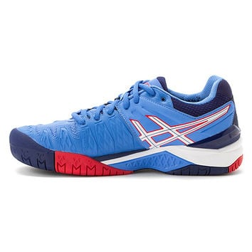 ASICS® GEL-Resolution® 6 | Women's - Powder Blue/White/Hibiscus