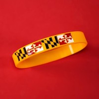 Maryland State Flag Motivational Wristband
