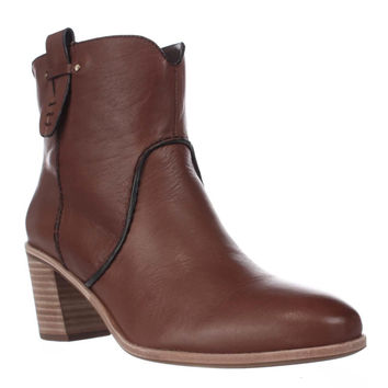 G.H. Bass & Co. Sophia Western Ankle Booties, Whiskey, 8.5 US / 40 EU