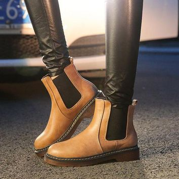 ca DCCKTM4 Hot Deal On Sale Winter Ankle Round-toe Flat Boots [11156049863]
