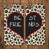 The Original Best Friends Leopard iPhone case, iPhone 5 Case or iPhone 4 Case in pairs - B001