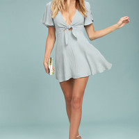 Sea Day Light Blue Skater Dress