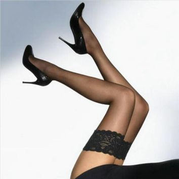 Women's thigh high stockings High Ultra Lace lingerie hosiery