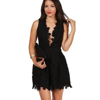 Black Up Front Skater Dress