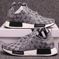 GUCCI Adidas NMD Fashion and leisure sports shoes