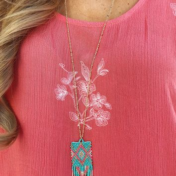 Moments Later Necklace: Turquoise/Multi