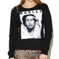 Marley Face Sweatshirt | Wet Seal