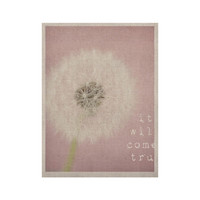 "Susannah Tucker ""It Will Come True"" Pink Flower KESS Naturals Canvas (Frame not Included)"