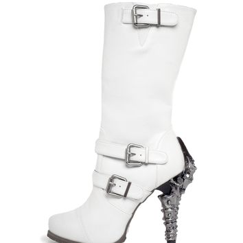 Hades Shoes H-ARMA Heavy metal biker inspired boots with 5 Claw heel