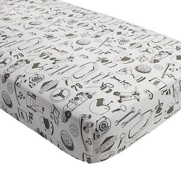 Pit Crew Crib Fitted Sheet