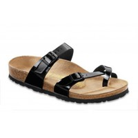 Women's Mayari Sandal in Black Patent by Birkenstock