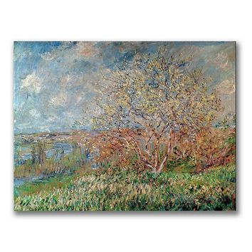 ''Spring 1880'' Canvas Wall Art by Claude Monet