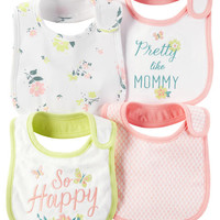 4-Pack Teething Bibs