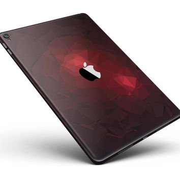 "Varying Shades of Red Geometric Shapes Full Body Skin for the iPad Pro (12.9"" or 9.7"" available)"
