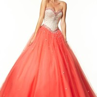 Mori Lee Tulle Skirt Dress 97017