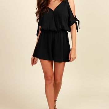 Amuse Me Romper Black