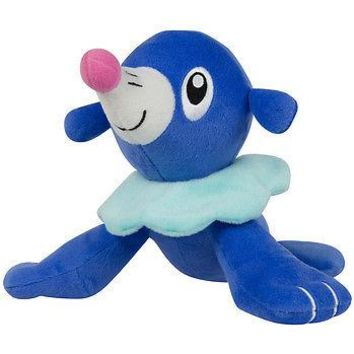 "Tomy Pokemon Sun & Moon Popplio 8"" Basic Plush Authentic New US Seller USA"