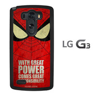 Spiderman With Great Power Z0876 LG G3 Case