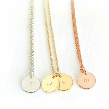 Custom Circle Plate Necklace