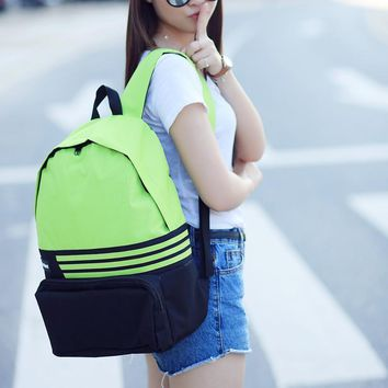 Fashion student college cavnas big capacity 14inch laptop backpack sac a dos mochila daypack unisex book patchwork bag