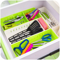 vanzlife kitchen plastic cutlery drawer with grid storage box free partition cupboard refrigerator organize cases