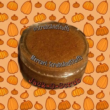 Jack-o-Scrub ~ 5 Sizes - Pumpkin Lip Scrub - Pumpkin flavor - Candy