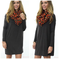 Time Well Wasted Dark Brown Long Sleeve Dress
